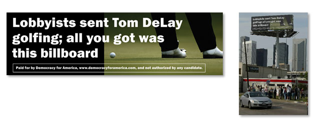 Tom DeLay Billboard in Houston Texas