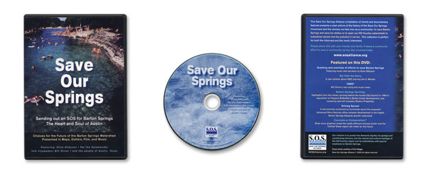 Save Our Springs Alliance DVD Packaging by Impact Productions in Austin Texas