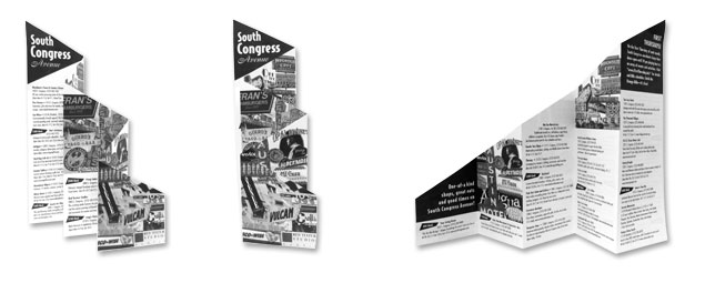 south congress avenue brochure desinged by Impact Productions