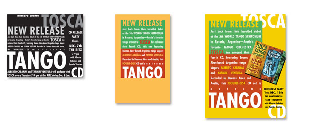 tosca tango release campaign designed by Impact Productions in Austin TX