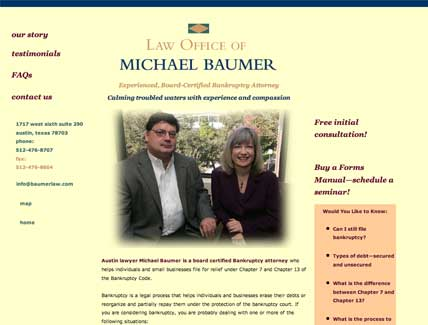 Baumer Law Website by Impact Productions