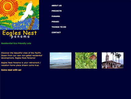 Eagles Nest Panama Website Designed by Impact Productions