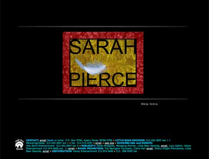 Sarah Pierce Flash Intro for Website art directed by Impact Productions